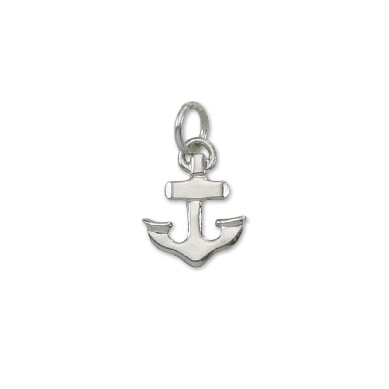Shop Designer Sterling Silver Anchor Charm Pendant Online