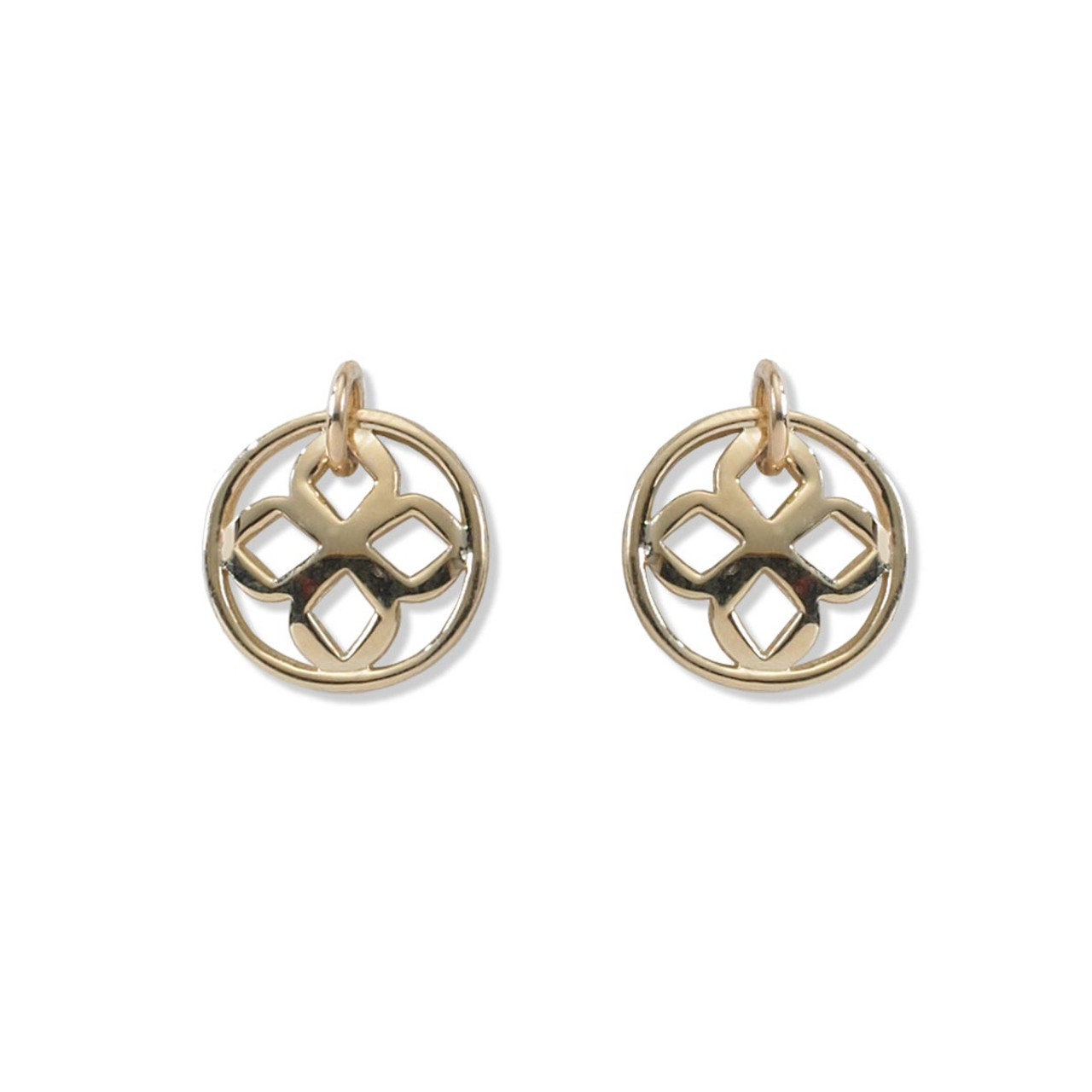 sm trinity earring small circle triquetra yellow drop celtic set gold solid knot earrings circular