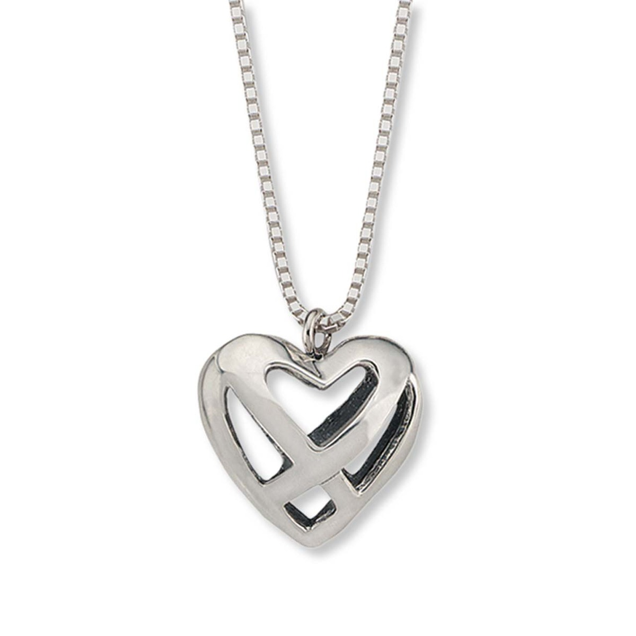 Sterling silver celtic heart pendant jh breakell sterling silver celtic heart pendant aloadofball Images