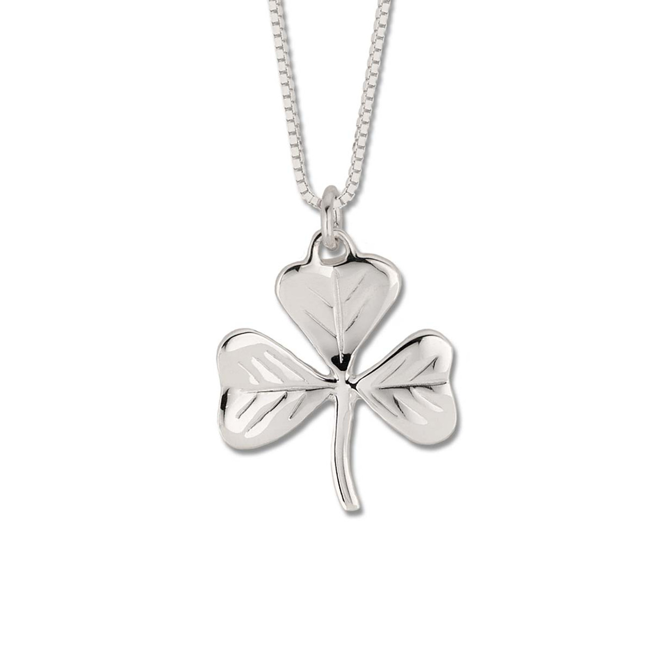 Purchase new design of sterling silver shamrock pendant sterling silver little shamrock good luck pendant aloadofball Images