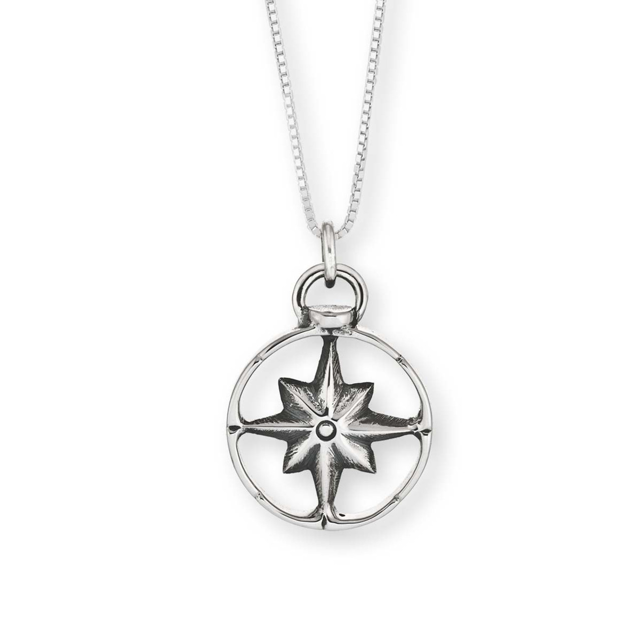 Sterling silver compass pendant jh breakell sterling silver compass pendant aloadofball Image collections
