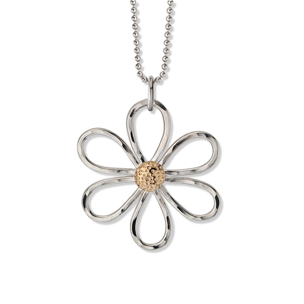cornish daisy gold bead tin with pendant