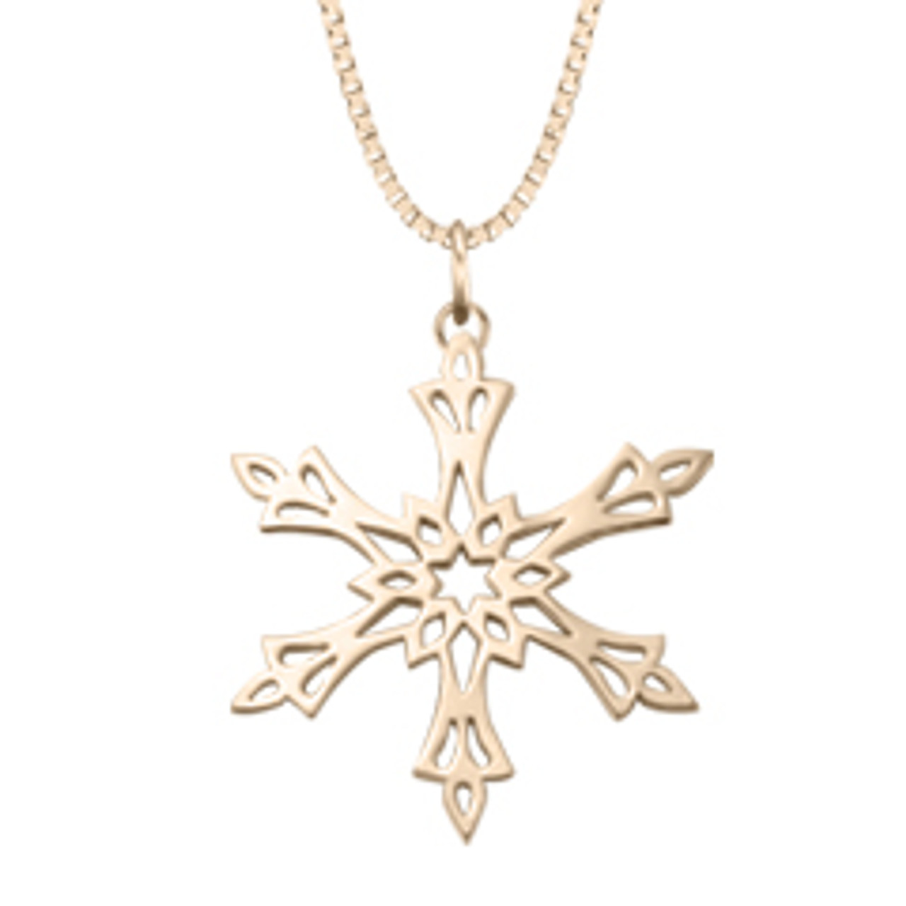 sterling silver snowflake necklace