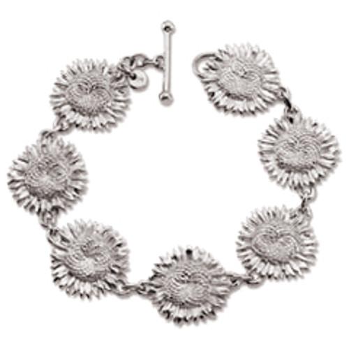 Sterling Silver Sunflower Bracelet