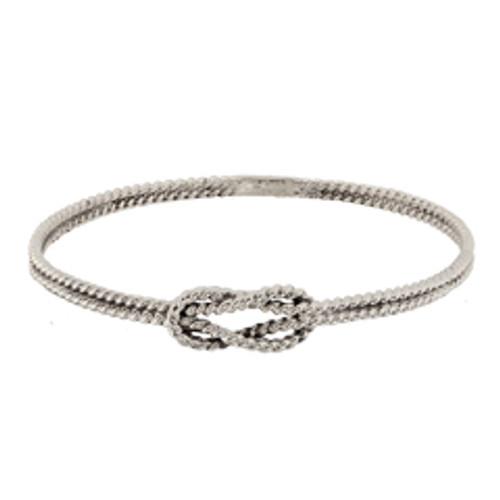 Sterling Silver Square Knot Bracelet