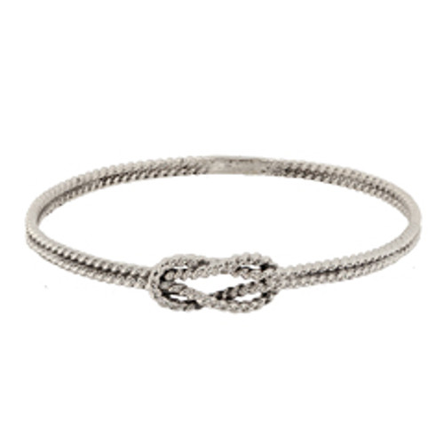 Classic Sterling Silver Square Knot Bracelet