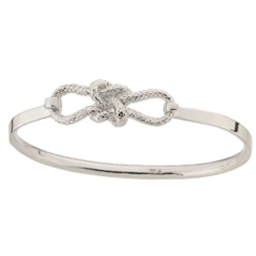 Sterling Silver True Love Knot Clip Bracelet