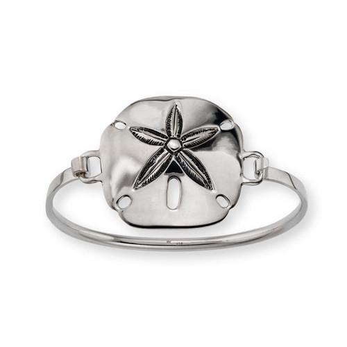Sterling Silver Sand Dollar Clip Bracelet