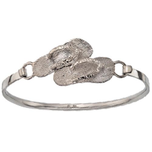 Sterling Silver Flip Flops Clip Bracelet