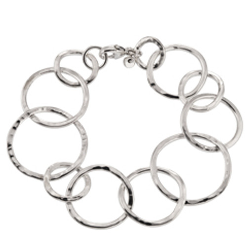 Three sized Sterling Silver Circles Bracelet