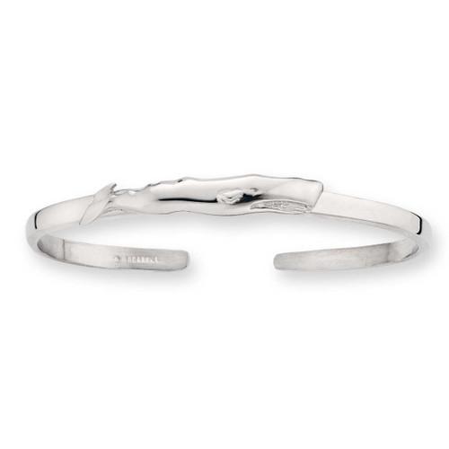 Sterling Silver Whale Cuff Bracelet