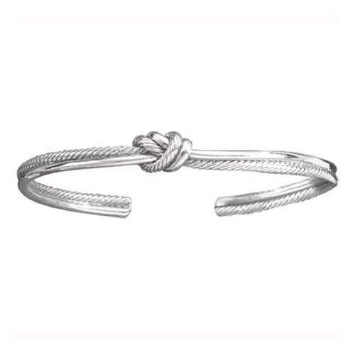 Sterling Silver Crew Knot Cuff Bracelet