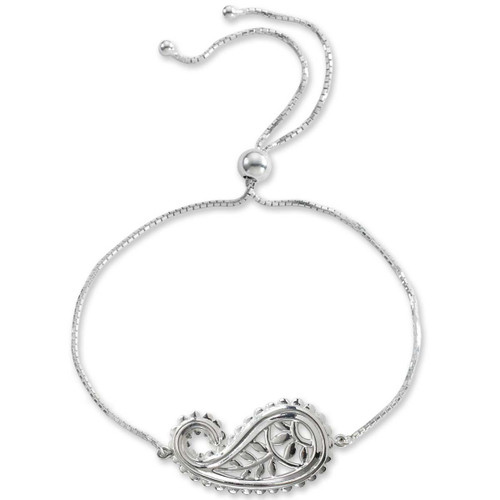 Delicate and adjustable Sterling Silver Taj Bracelet