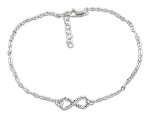 "Sterling Silver Mini Infinity Bracelet 7 1/2"""