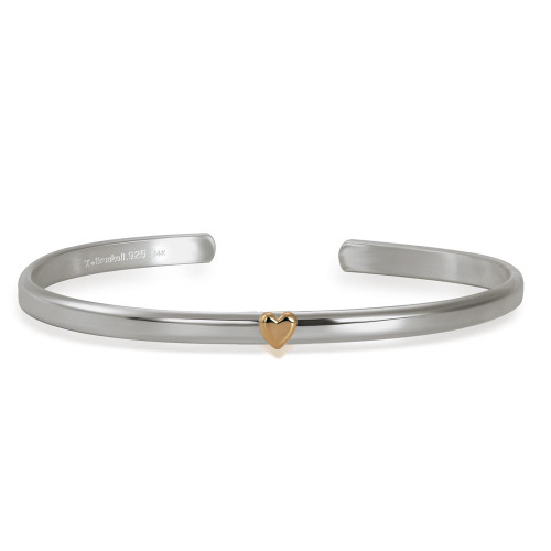 Sterling & 14kt Gold Talisman Heart Cuff