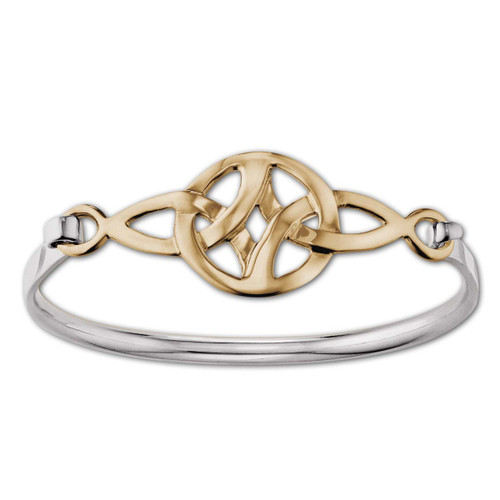 Classic Sterling & 14kt Celtic Knot Clip Bracelet