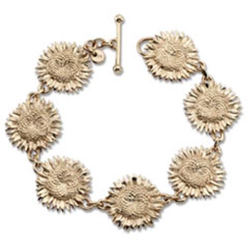 14kt Sunflower Bracelet with beautiful chain