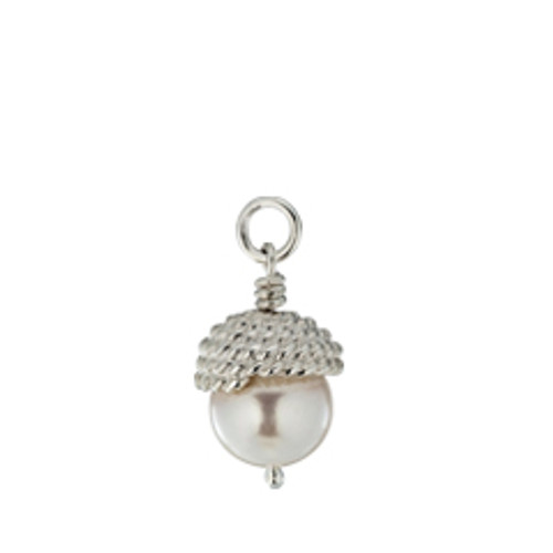 Sterling Silver Enduring Grace Charm with a cap of twisted sterling rope