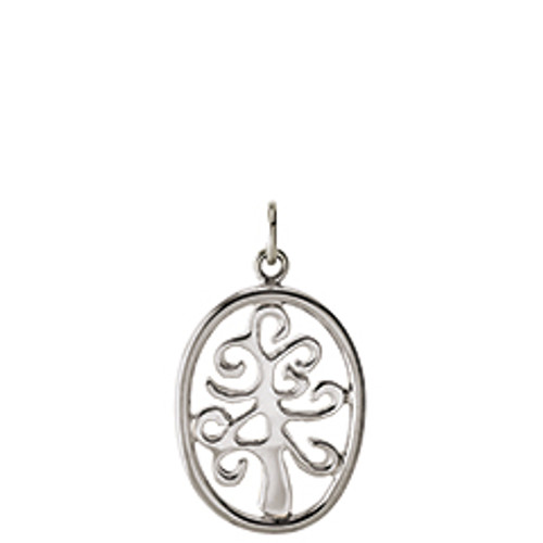 Sterling Silver Framed Tree of Life Charm