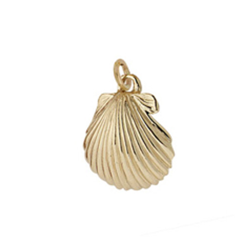 14kt Scallop Shell Charm Sm