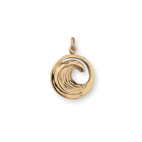 14kt Small Perfect Wave Charm
