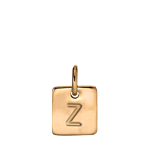 14kt Expression Square Charm High Polished