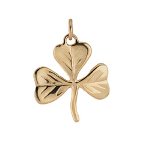 14kt Gold Shamrock Charm symbolizes good Luck!