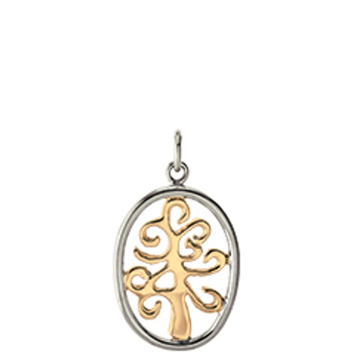 Sterling & 14kt Tree of Life Charm Reflects Unbreakable bond