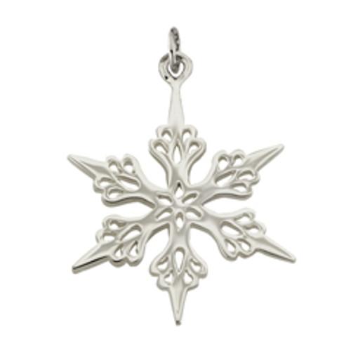 Sterling Silver 2001 Snowflake Charm