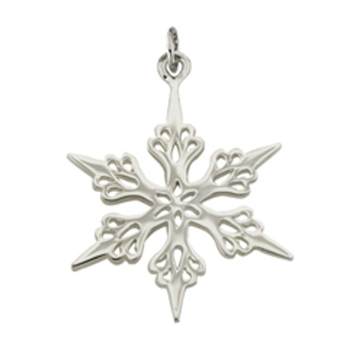 Sterling Silver 2001 Snowflake Charm Tributes to Tree Beauty