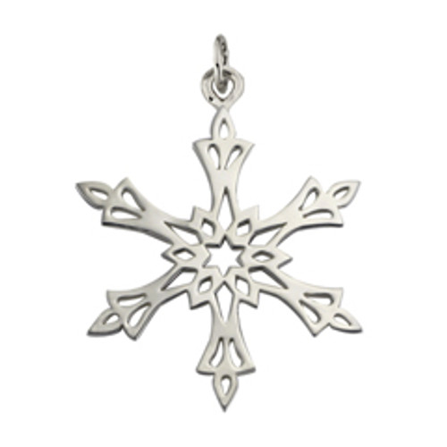 Sterling Silver 2002 Snowflake Charm