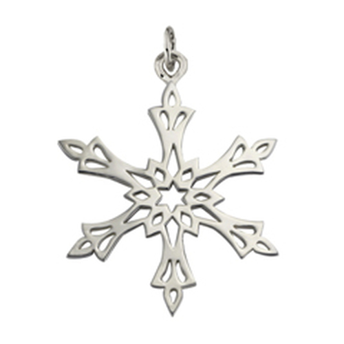 Sterling Silver 2002 Snowflake Charm Inspired by North Star