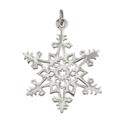 Sterling Silver 2005 Snowflake Charm