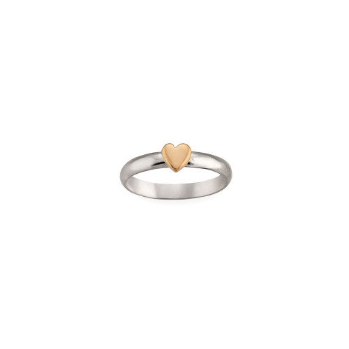 Sterling & 14kt Gold Talisman Heart Ring
