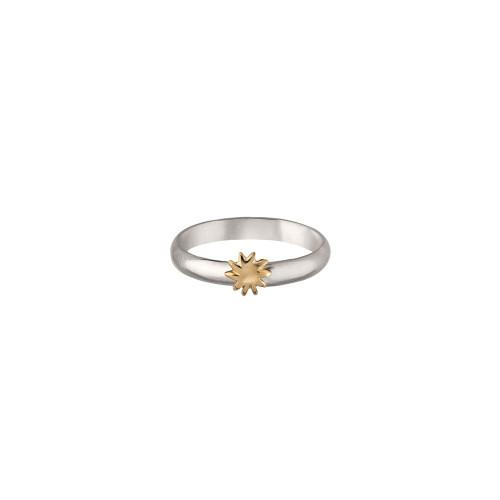 Sterling & 14kt Gold Talisman Sun Ring