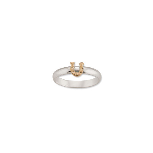 Sterling & 14kt Gold Talisman Horseshoe Ring