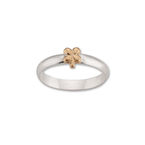 Sterling & 14kt Gold Talisman Clover Ring