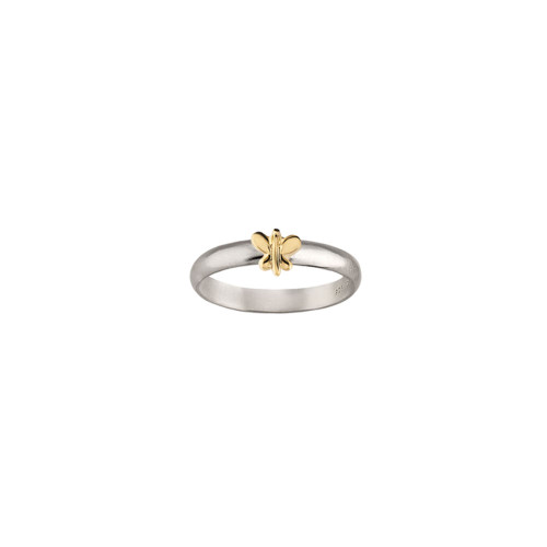 Sterling & 14kt Gold Talisman Butterfly Ring
