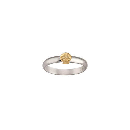 Sterling & 14kt Gold Talisman Shell Ring