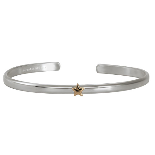 Sterling & 14kt Gold Talisman Star Cuff