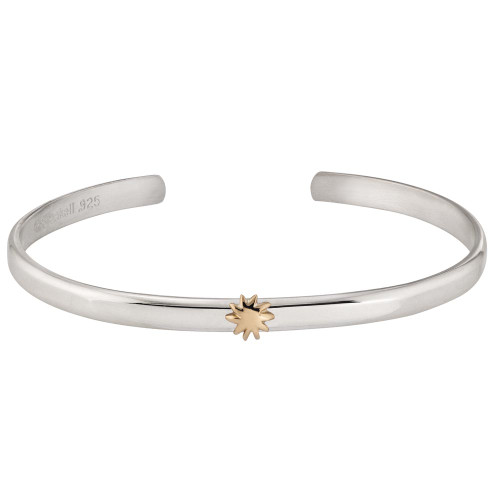 Sterling & 14kt Gold Talisman Sun Cuff Bracelet
