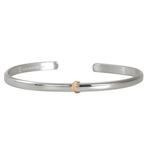 Sterling & 14kt Gold Talisman Moon Cuff