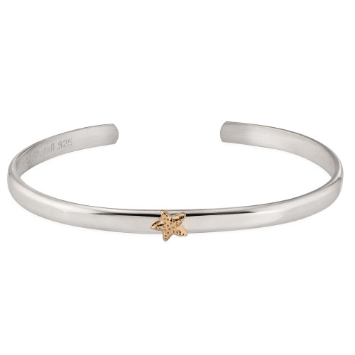 Sterling & 14kt Gold Talisman Starfish Cuff
