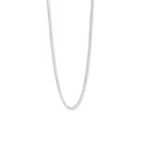 Sterling Silver,  1mm,  Standard Box Chain