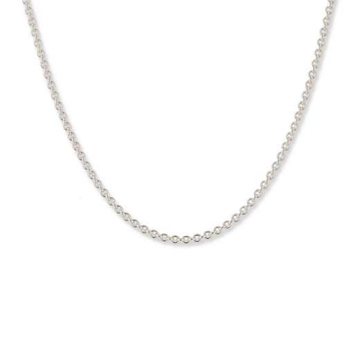 Sterling Silver Round Cable Chain, 2.2mm,