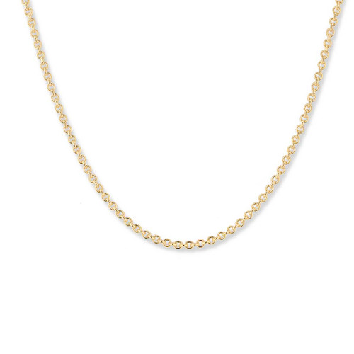 14kt Gold,  2.2mm,  Round Cable Chain