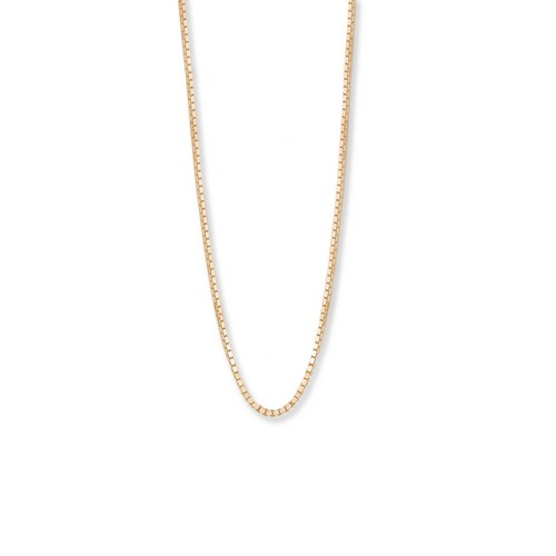 14kt Gold,  1mm,  Standard Box Chain