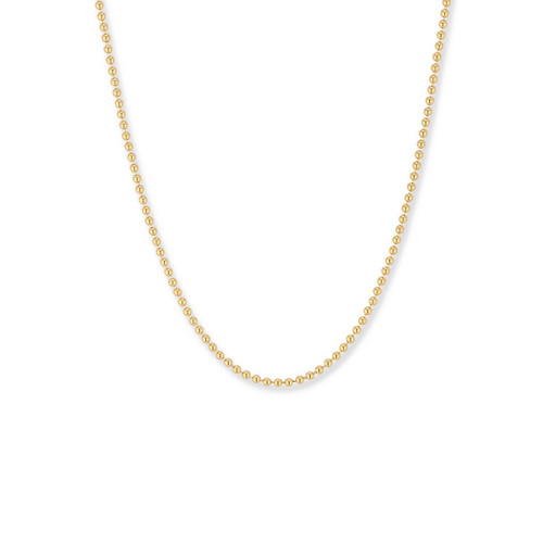 14kt Gold,  1.5mm,  Bead Chain