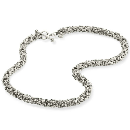 Sterling Silver Byzantine Necklace 16""