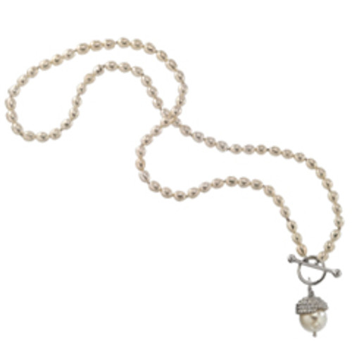 Sterling Silver Enduring Grace Necklace with Toggle Closure